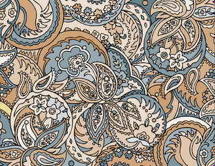 Abstract colored background from a variety of patterns.Vector