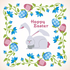 Happy Easter - modern vector square card