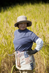 Senior Woman Harvesting