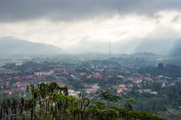 Luang Prabang cityscape view from Mount Phousi (Phou si), Laos