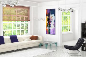 Konzept einer Wohnzimmereinrichtung (Gestaltung)