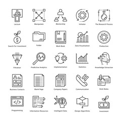 Business Management and Growth Vector Line Icons 4