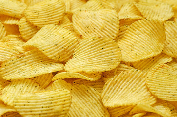 food background of potato chips