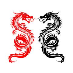 Dragon icon, Vector illustration
