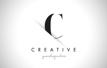 C Letter Logo Design with Creative Paper Cut
