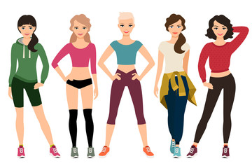 Women in sporty outfits