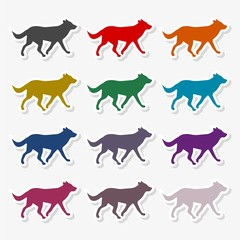 Running dog icon - Illustration