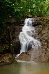 Beautiful of Kathu Waterfall at Phuket province Thailand.
