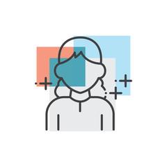 Woman, human avatars icon 3 color