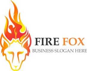 logo fire fox flaming