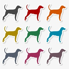 Dog icon flat - Illustration