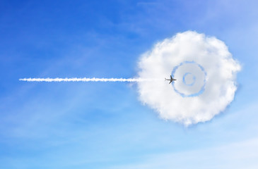 Target Cloud is in the air. sky background