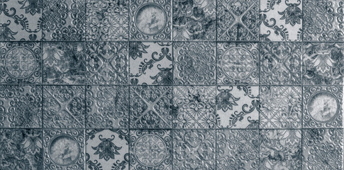Mosaic geometry, abstract pattern, ceramic tile