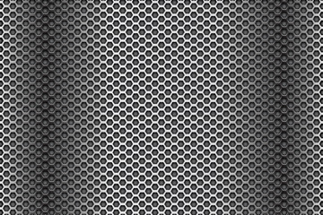 Dark metal perforated background. Abstract industrial surface