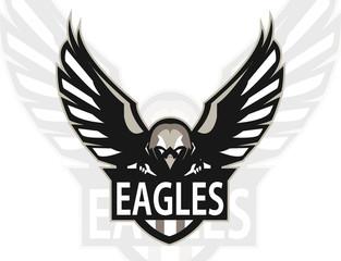 Eagle logo mascot for a team. Sport logo. Vector illustration. EPS10
