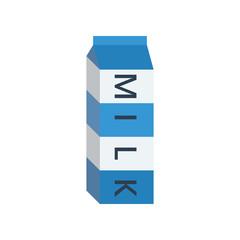 Closed milk box blue