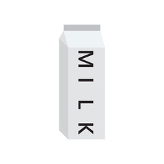 Closed milk box white text