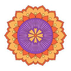Doodle colorful flower