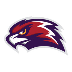 Hawk Head Mascot Vector Logo