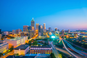 Wall Mural - Skyline of Atlanta city