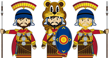 Cute Cartoon Roman Centurion Soldiers
