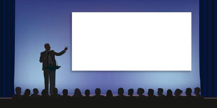 Conférence - Présentation - Meeting - Leadership - Politique