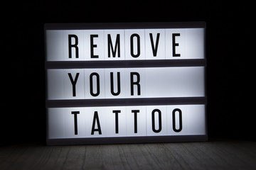 'Remove your tattoo' text in lightbox