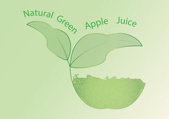 logo apple juice abstract art creative modern illustration of light green background vector