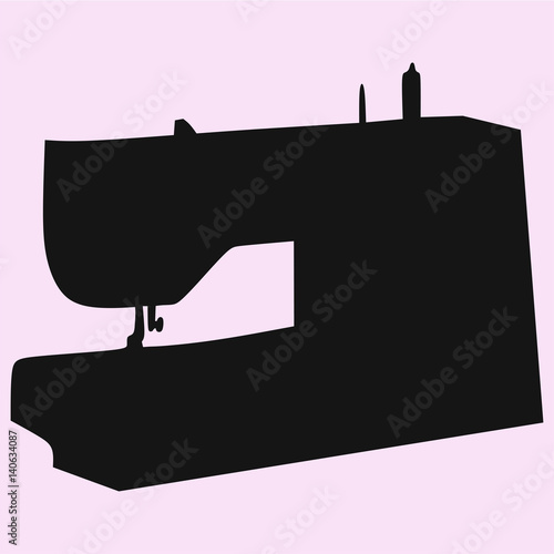 Sewing Machine Vector Silhouette Isolated Stock Image And Royalty Magnificent Sewing Machine Vector Free