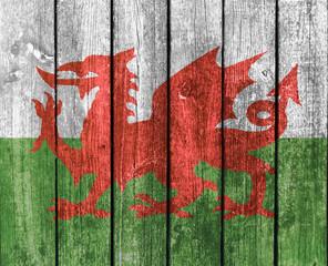 Wood Planks - Welsh Flag
