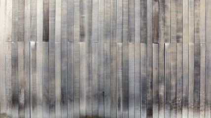 Black and white wood texture background old panels.