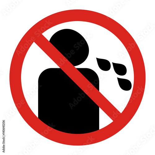 """""""Do not spit sign. No spitting. """" Stock image and royalty ... No Spitting Sign Vector"""