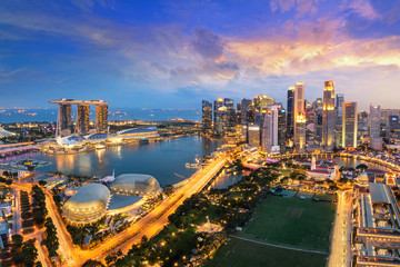 Photo sur Toile Singapoure Singapore city