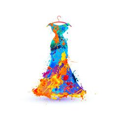 Evening dress. Splash paint