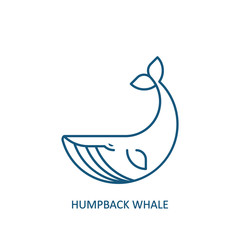Humpback whale icon. Vector illustration.