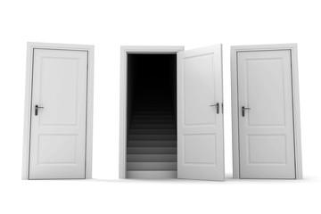 To choose correct doors.