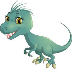 Beautiful carton dinosaur