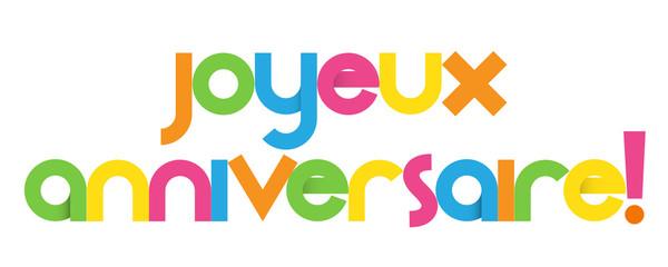 Bannière JOYEUX ANNIVERSAIRE