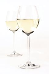 Glass of white wine - studio shot