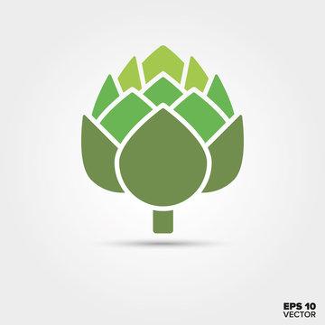 Artichoke vegetable vector icon