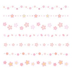 桜の花 ラインセット / vector eps