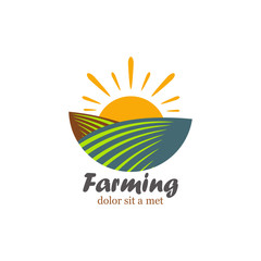 Template logo for farming.