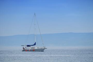 Sailboat on the mediterranean sea, Split, Croatia