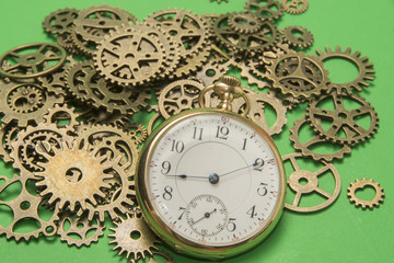 Gears and Pocket Watch