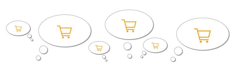 Gedankenblasen - Shopping