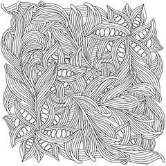 Pattern for adult coloring book.