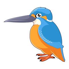 Cartoon smiling Kingfisher