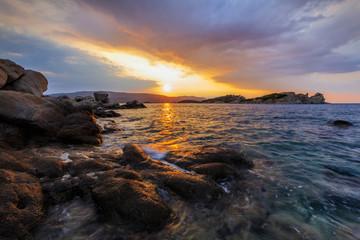 sunrise in Ammouliani Island, Greece