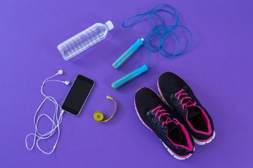 Fitness accessories, measuring tape and mobile