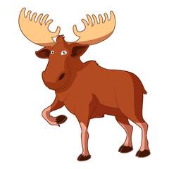 Cartoon smiling Moose